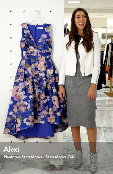 Floral Fit & Flare Dress, sales video thumbnail