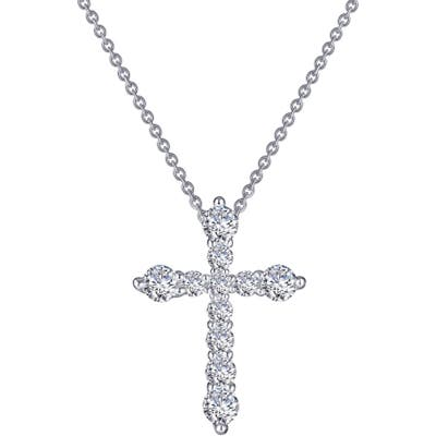Lafonn Classic Simulated Diamond Cross Pendant Necklace