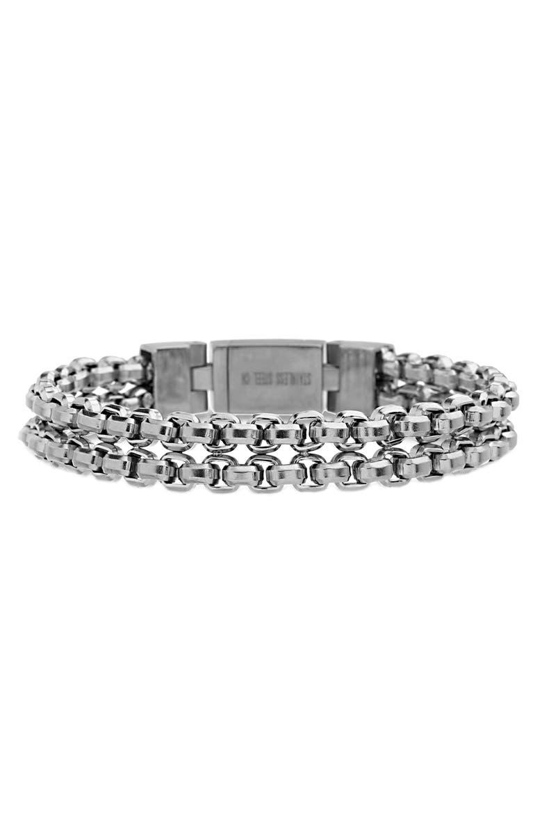 STEVE MADDEN Chain Bracelet, Main, color, SILVER