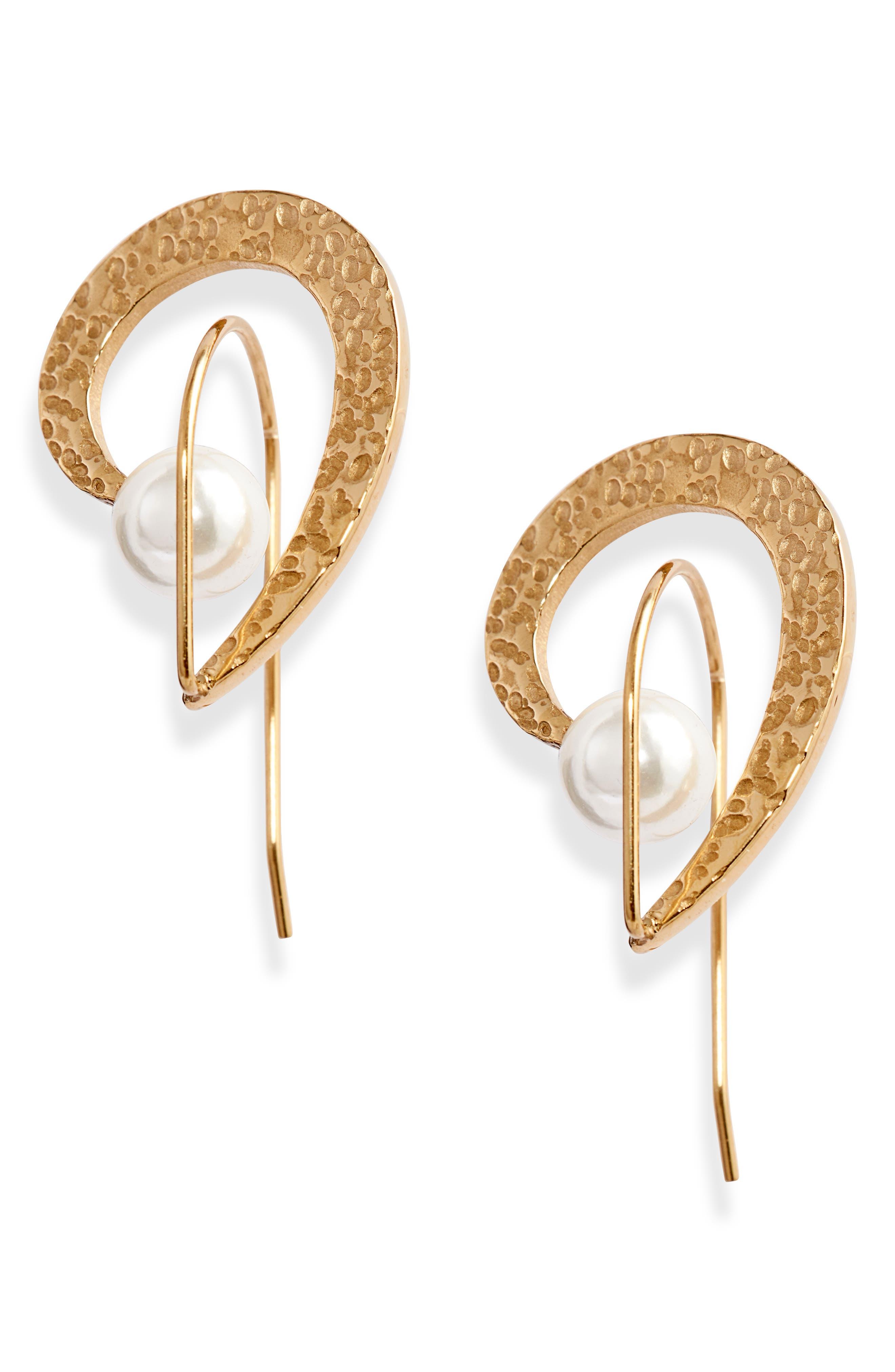 Hammered Orbit Earrings
