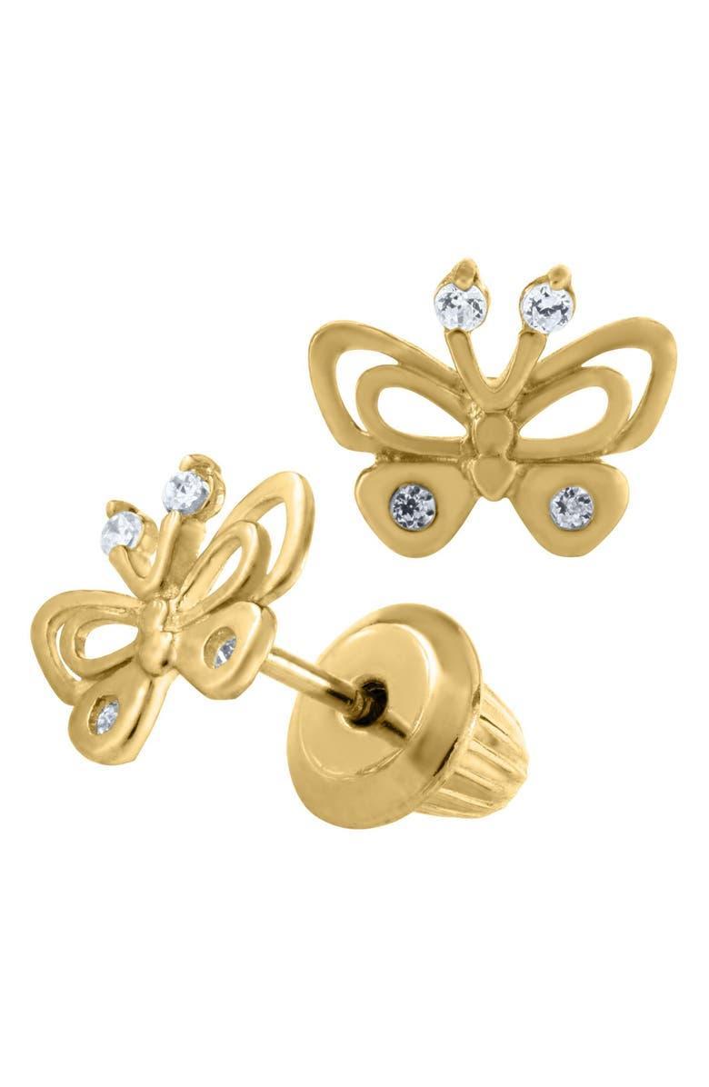 MIGNONETTE 14k Gold Butterfly Earrings, Main, color, GOLD
