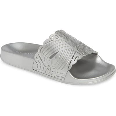 Ted Baker London Missley Perforated Sport Slide, Metallic