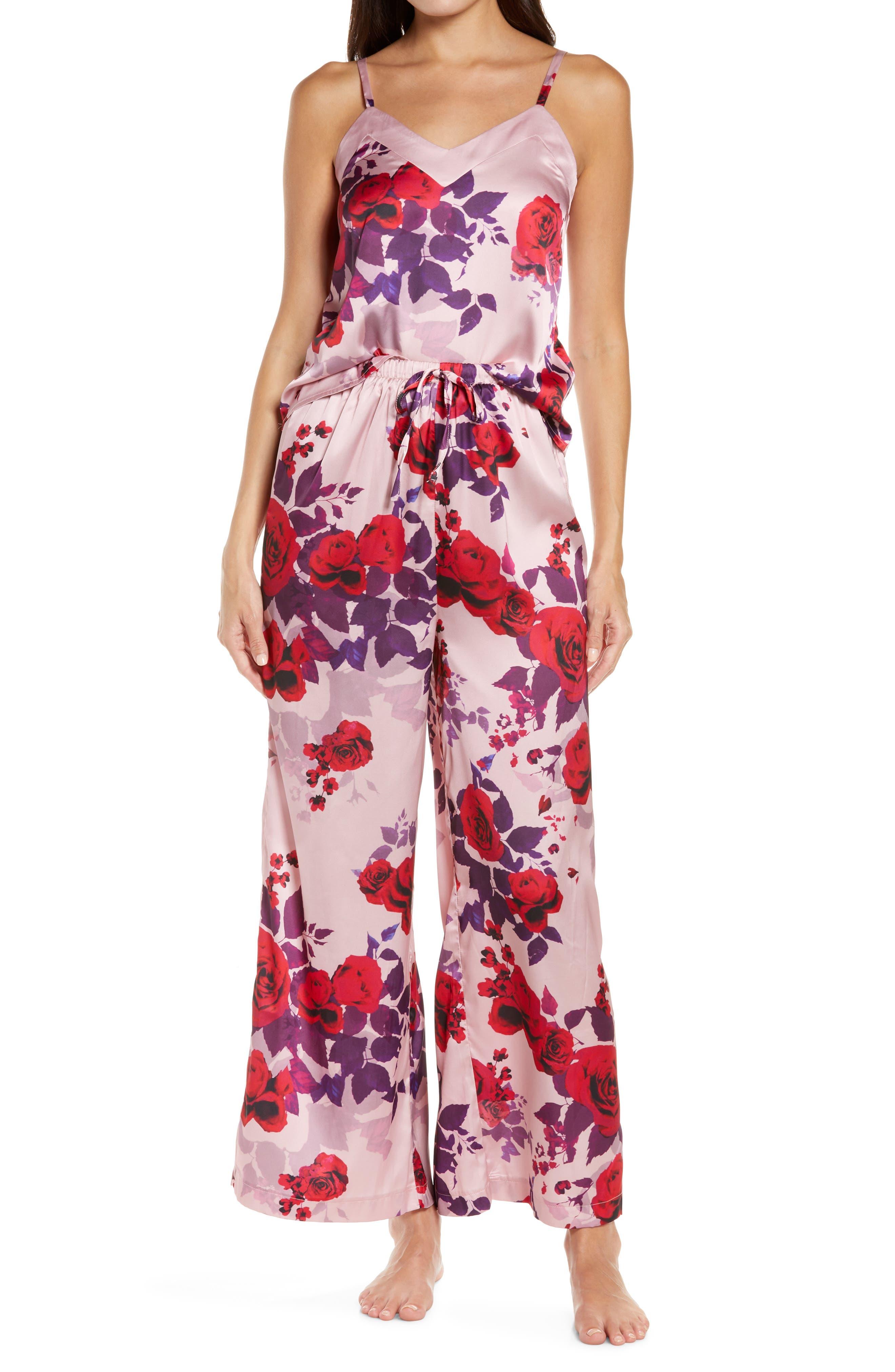 Floral Satin Pajamas