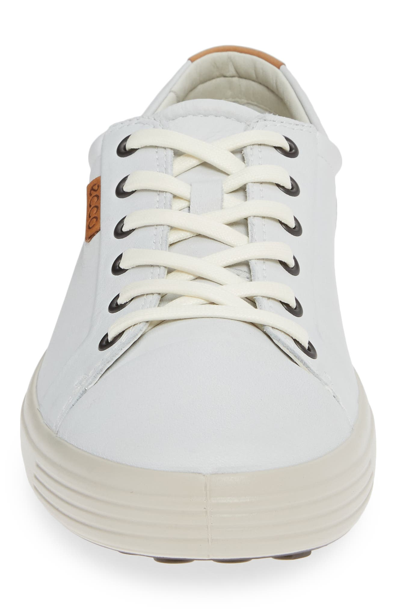 ,                             Soft VII Lace-Up Sneaker,                             Alternate thumbnail 4, color,                             WHITE LEATHER