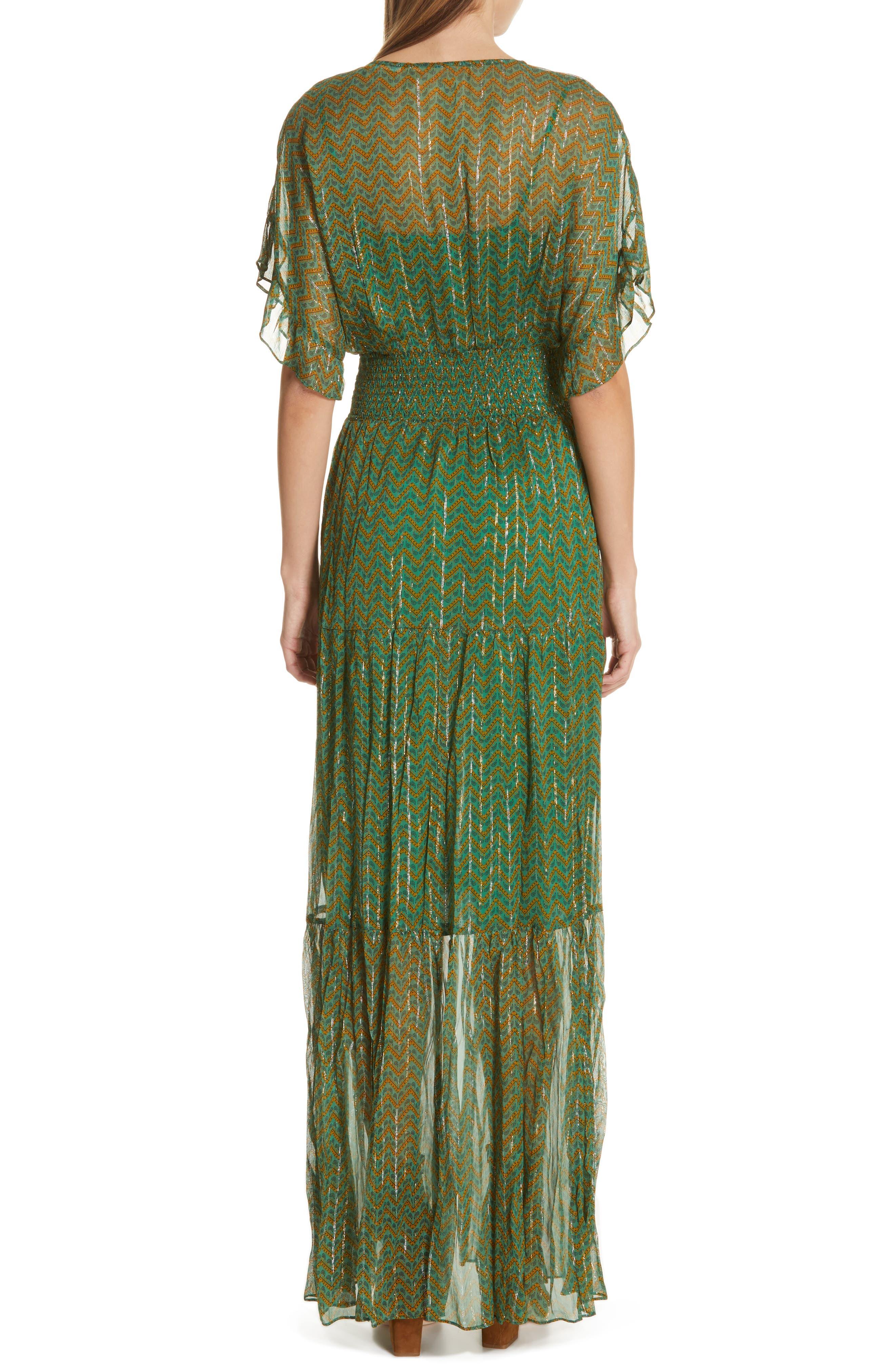 ,                             Wanda Metallic Accent Maxi Dress,                             Alternate thumbnail 2, color,                             VERT