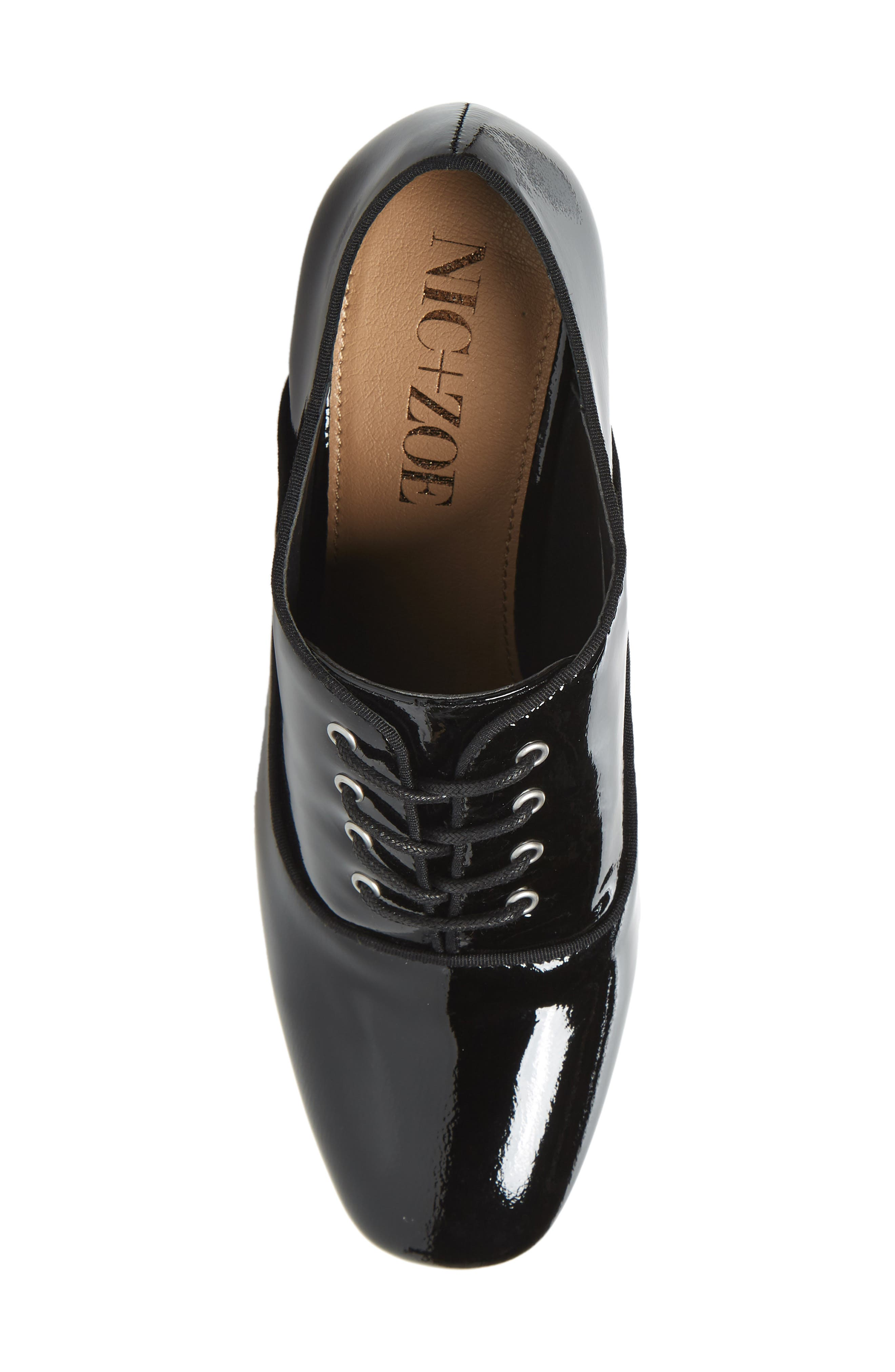 ,                             Envy Oxford Pump,                             Alternate thumbnail 5, color,                             BLACK FAUX PATENT