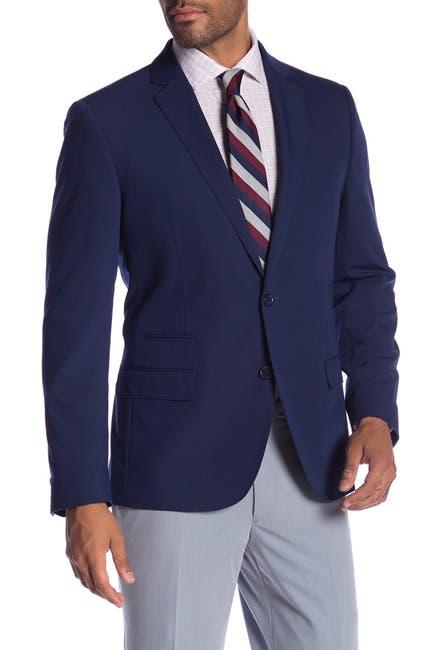 Image of SAVILE ROW CO Avedon Blue Two Button Notch Lapel Slim Fit Bi-Stretch Suit Separate Jacket