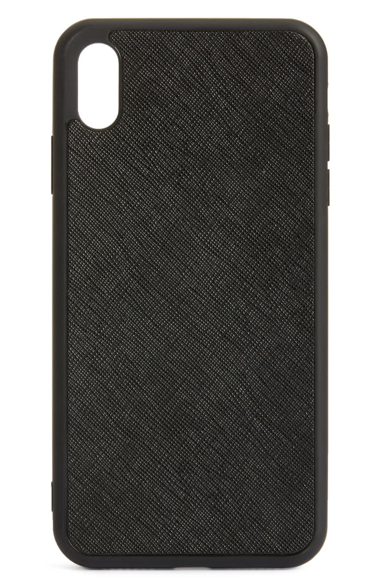 8 OTHER REASONS x Jill Jacobs Leather iPhone X/Xs/Xs Max & XR Case, Main, color, 001