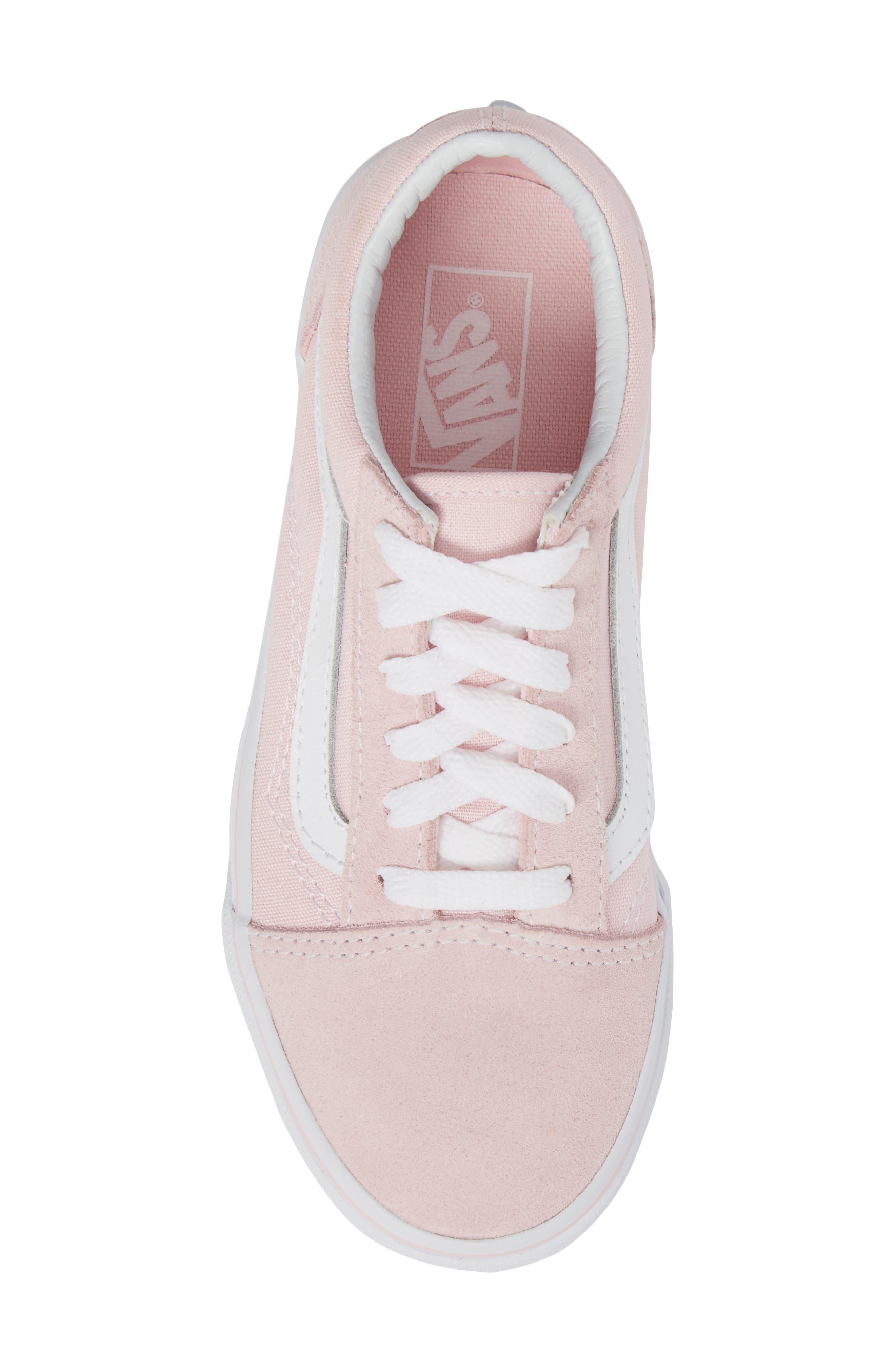 ,                             Old Skool Sneaker,                             Alternate thumbnail 5, color,                             CHALK PINK/ TRUE WHITE