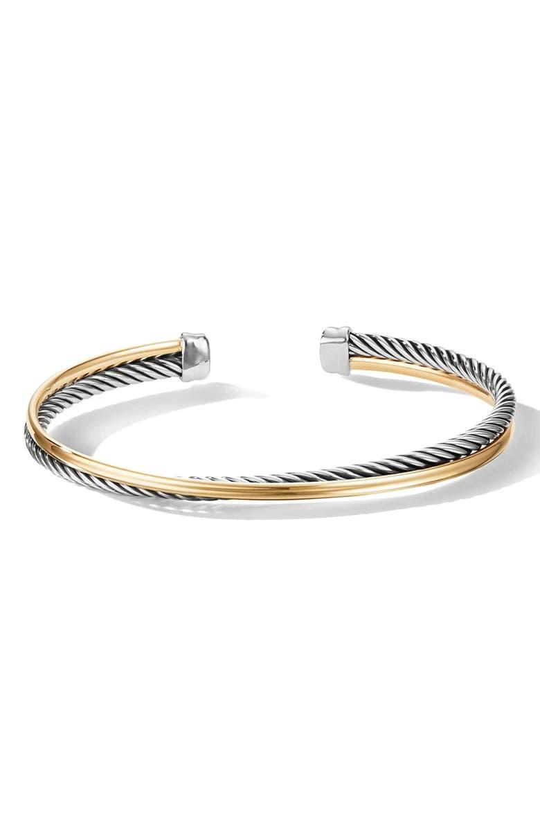 DAVID YURMAN Crossover Bracelet with 18K Gold, Main, color, SILVER/ GOLD