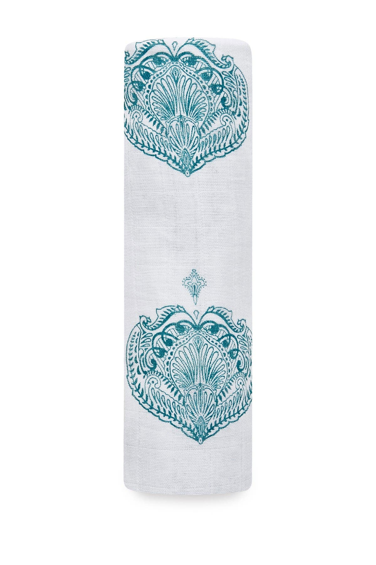 Image of aden + anais Paisley Teal Classic Muslin Swaddle