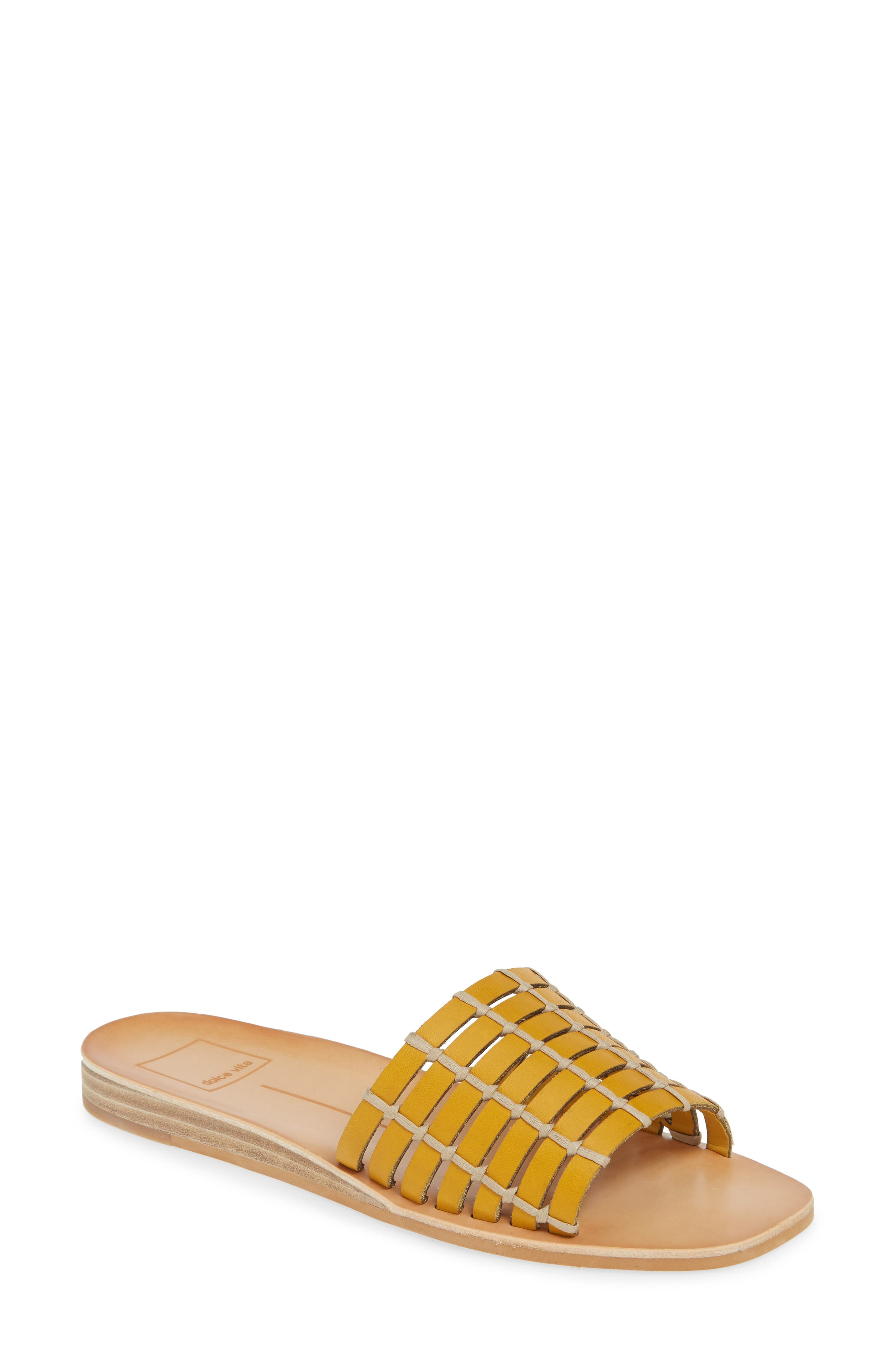 Dolce Vita Colsen Slide Sandal- Yellow