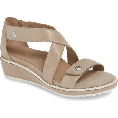 Bettye Muller Concepts Tobi Wedge Sandal, Beige