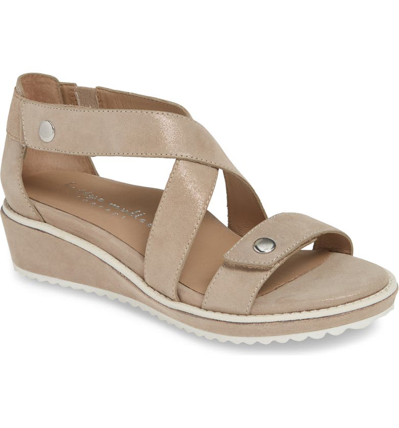 BETTYE MULLER CONCEPTS Tobi Wedge Sandal, Main, color, SHELL NUBUCK
