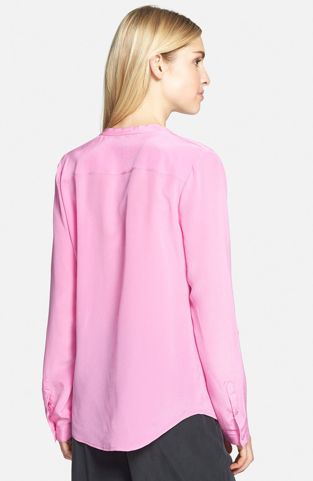 ,                             Collarless Silk Blouse,                             Alternate thumbnail 78, color,                             670