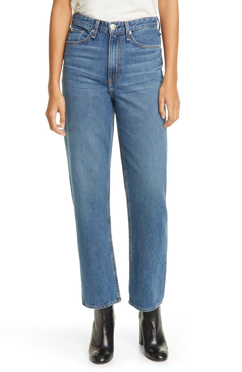 RAG & BONE Ruth Super High Waist Straight Leg Jeans, Main, color, 401