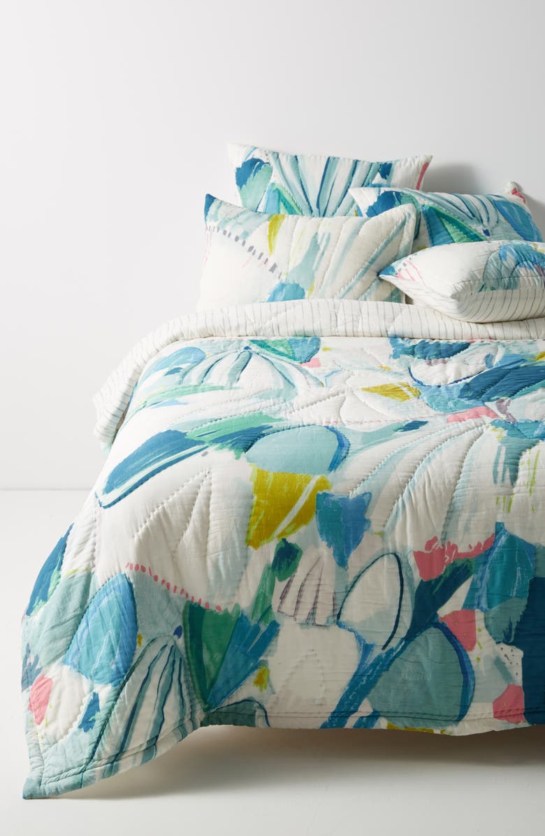 ANTHROPOLOGIE HOME Anthropologie Laci Fowler Quilt, Main, color, 400