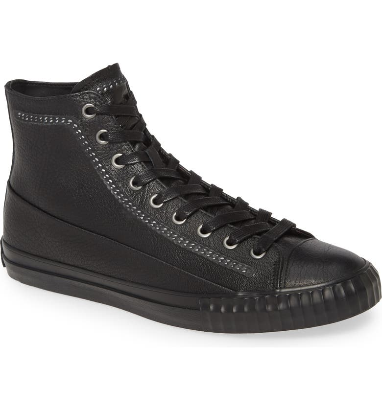 BOOTLEG BY JOHN VARVATOS John Varvatos Star USA High Top Leather Sneaker, Main, color, BLACK
