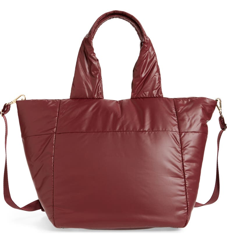 CARAA Small Cumulus Tote, Main, color, BURGUNDY