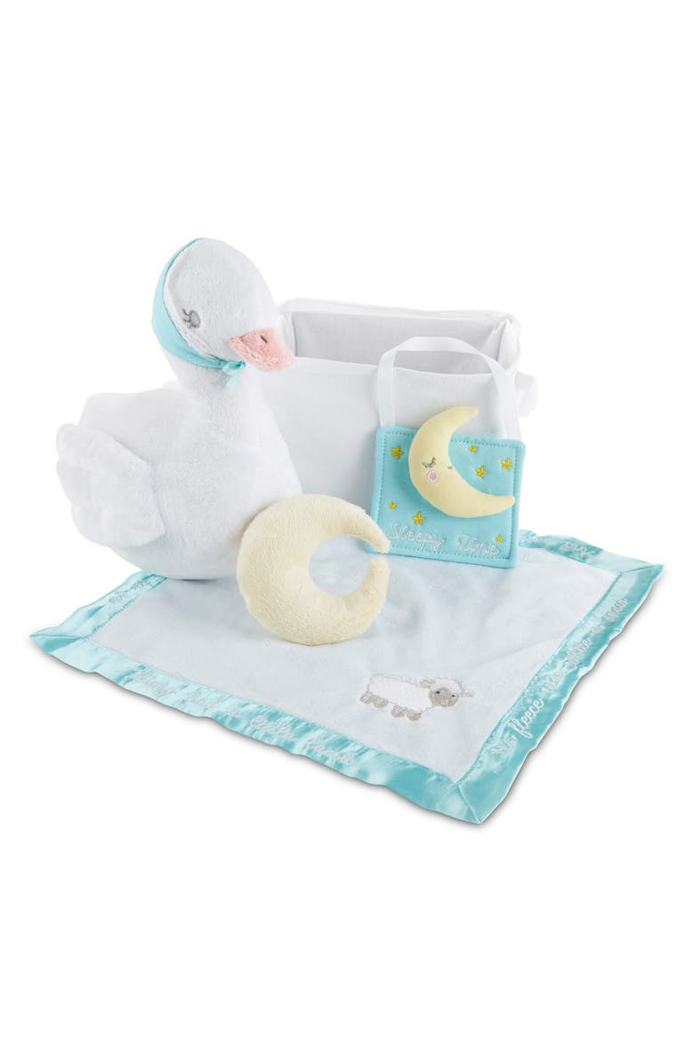 BABY ASPEN Bedtime Stories 5-Piece Gift Set, Main, color, WHITE/ TEAL/ YELLOW