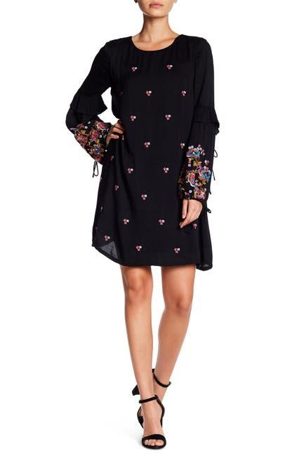 Image of Sugarlips Isa Embroidered Shift Dress