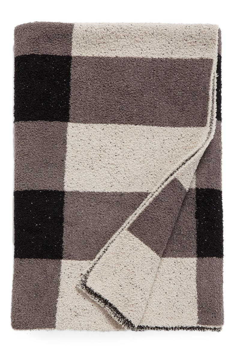 BAREFOOT DREAMS<SUP>®</SUP> CozyChic<sup>®</sup> Plaid Throw Blanket, Main, color, 001