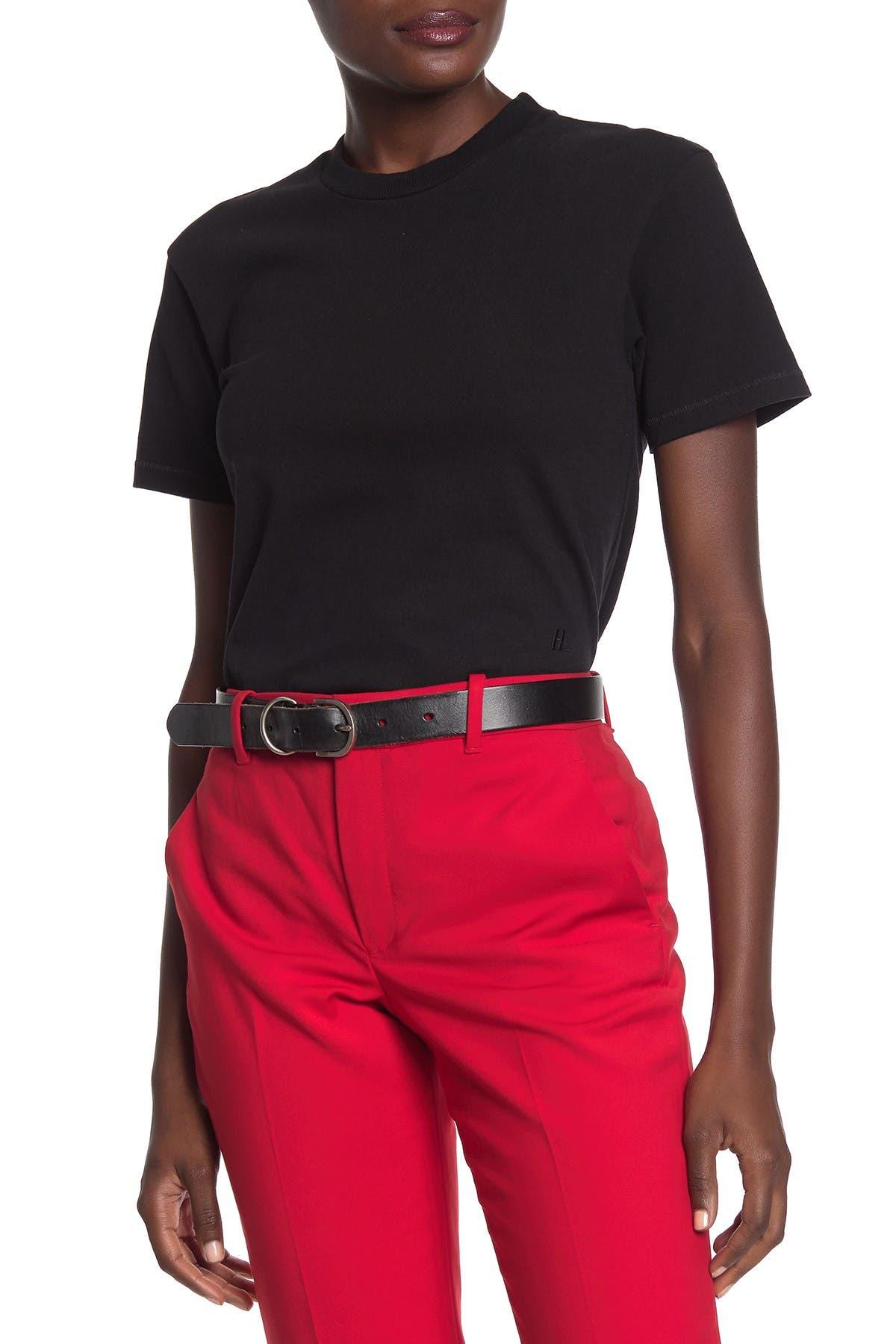 Image of Helmut Lang Short Sleeve Solid T-Shirt