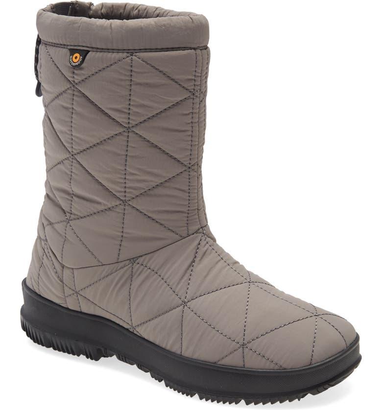 BOGS Mid Snowday Waterproof Boot, Main, color, GRAY