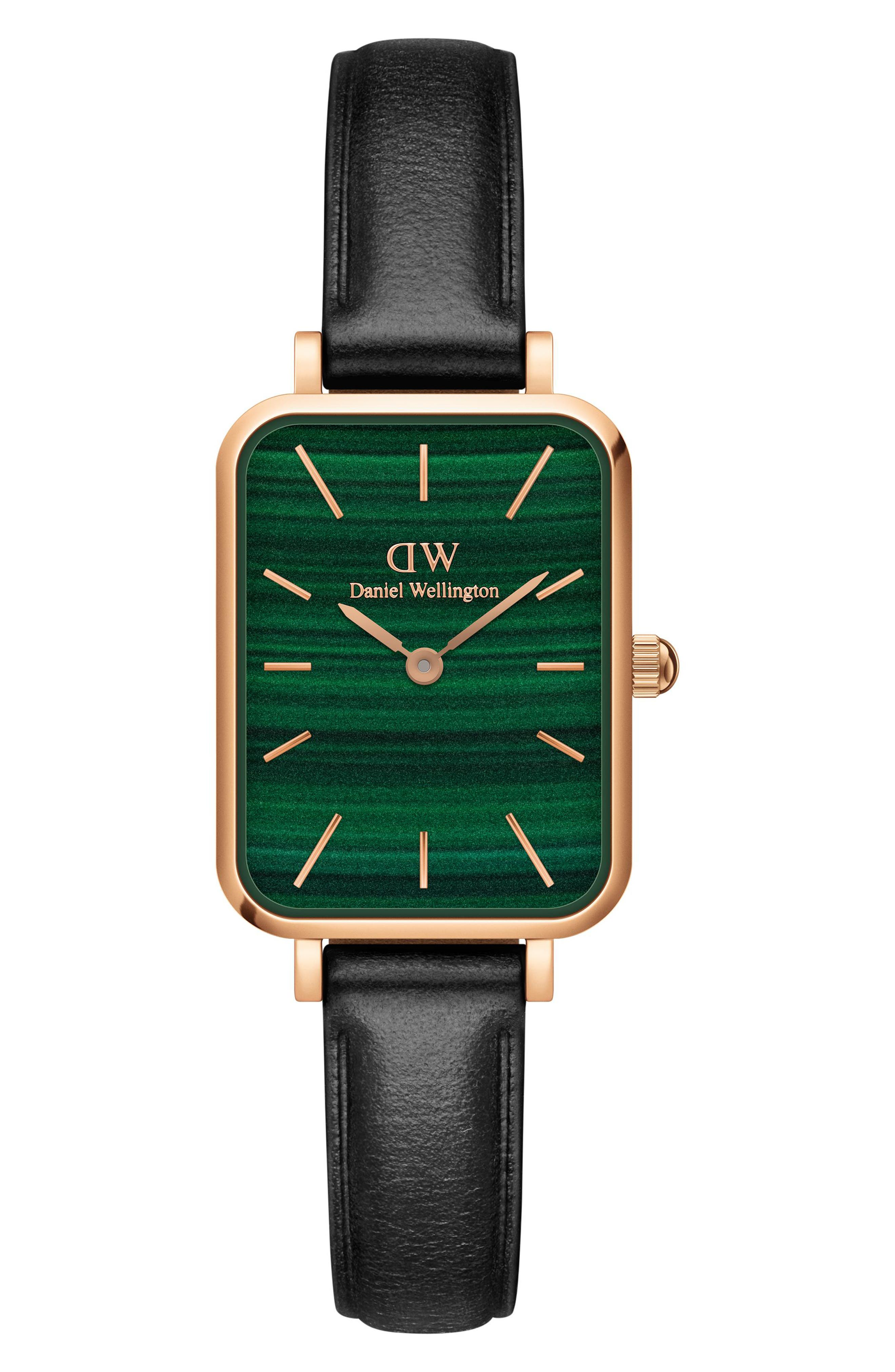 Quadro Melrose Leather Strap Watch