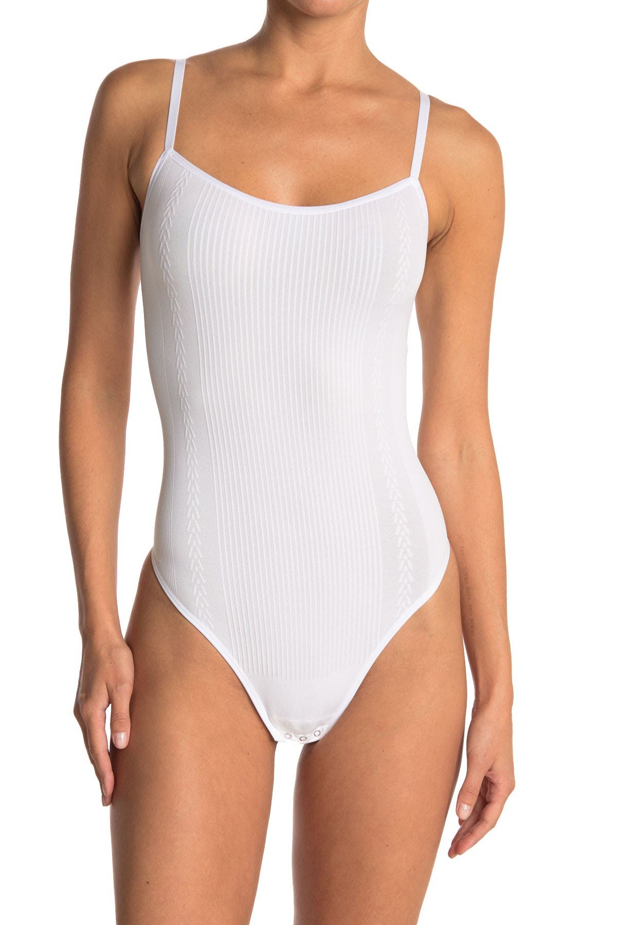 Image of Yummie by Heather Thomson Crystal Ribbed Cami Bodysuit
