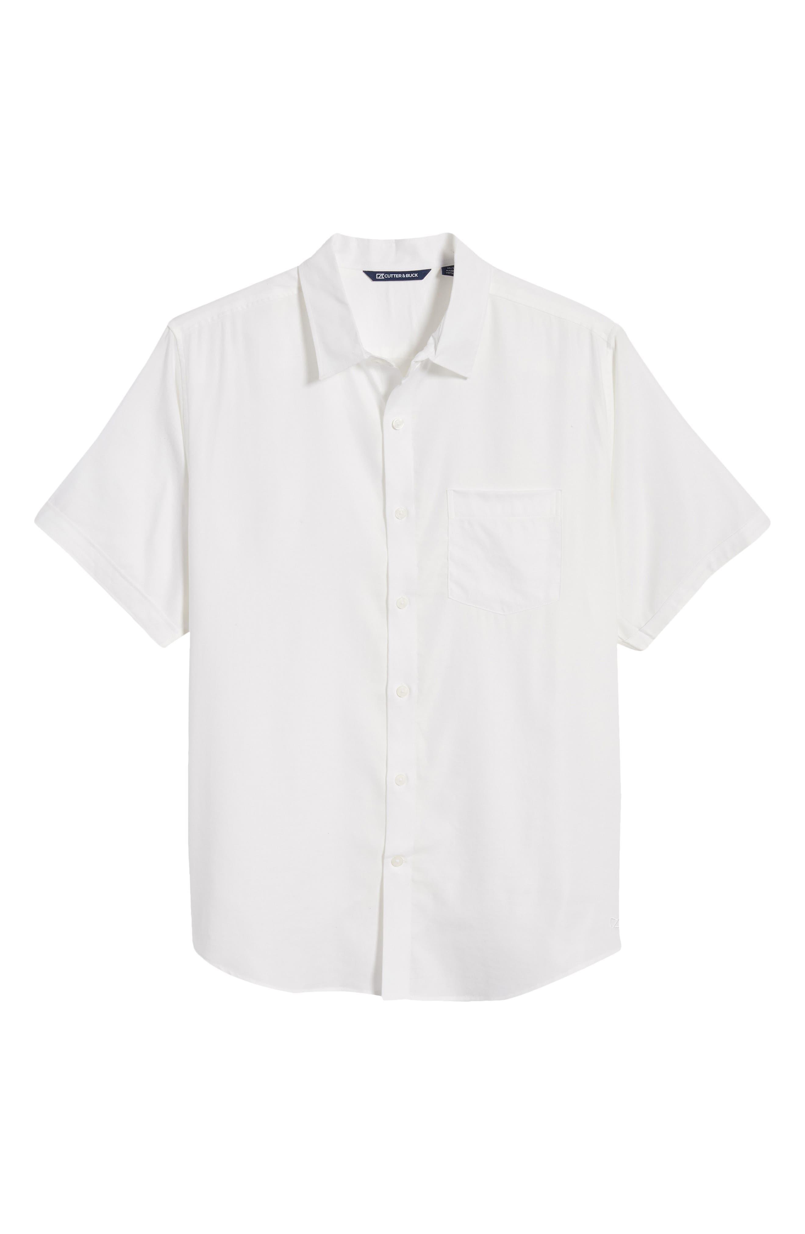 Windward Short Sleeve Twill Button-Up Shirt