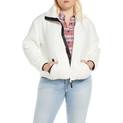 Plus Size Bp. Fleece Jacket, Ivory