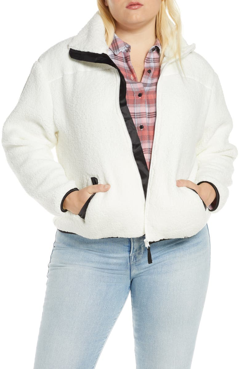 BP. Fleece Jacket, Main, color, IVORY