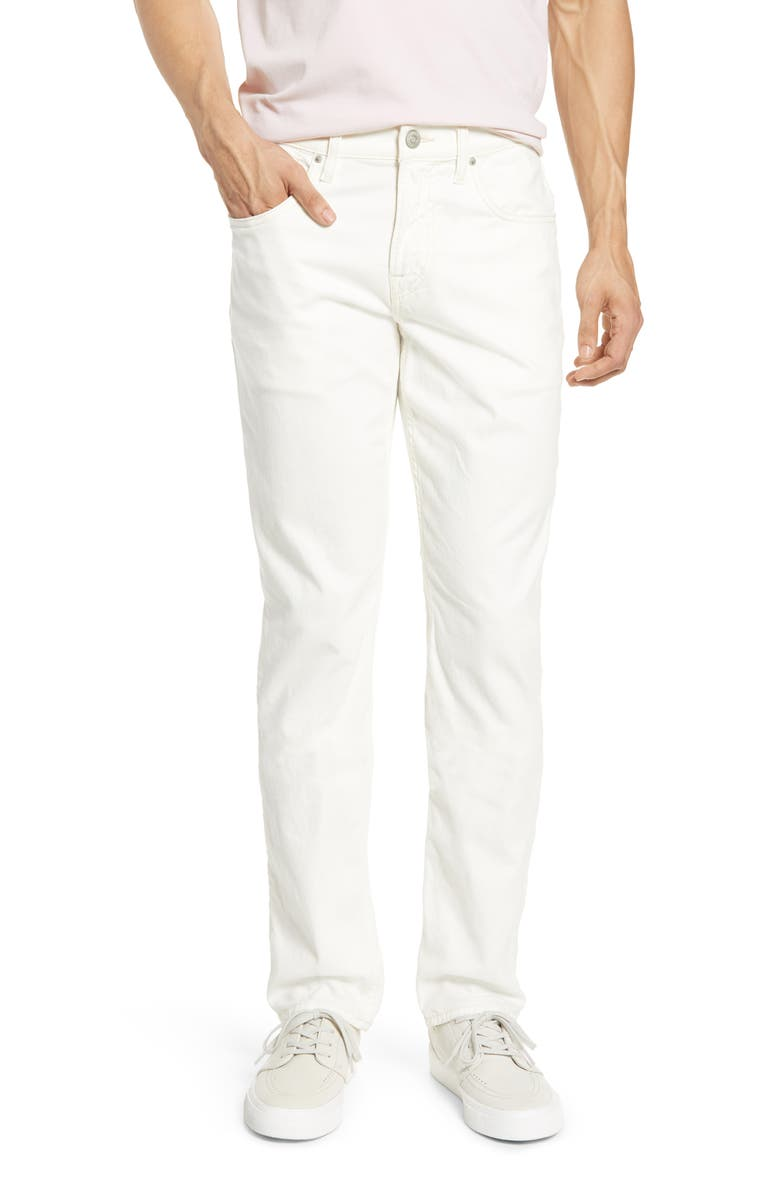 HUDSON JEANS Blake Slim Fit Jeans, Main, color, DIRTY WHITE