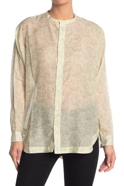 Image of Billy Reid Flora Cotton Silk Blend Dolman Shirt