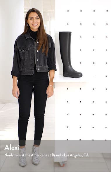 Refined Creeper Over the Knee Rain Boot, sales video thumbnail