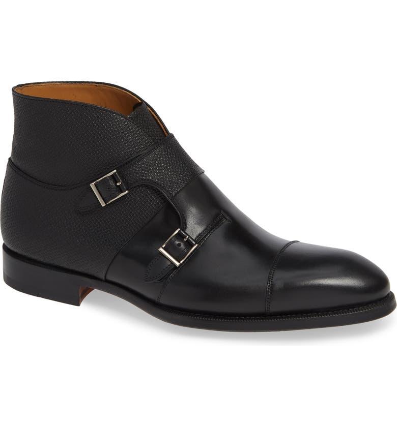 MAGNANNI Dionicio Monk Strap Boot, Main, color, 001
