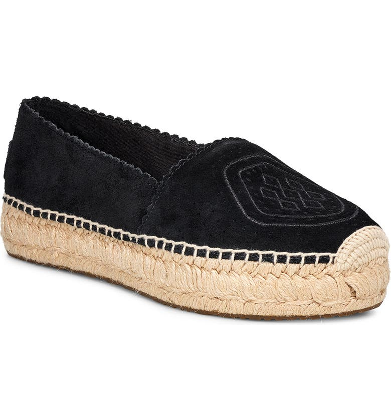 UGG<SUP>®</SUP> Heidi Perforated Espadrille, Main, color, 001