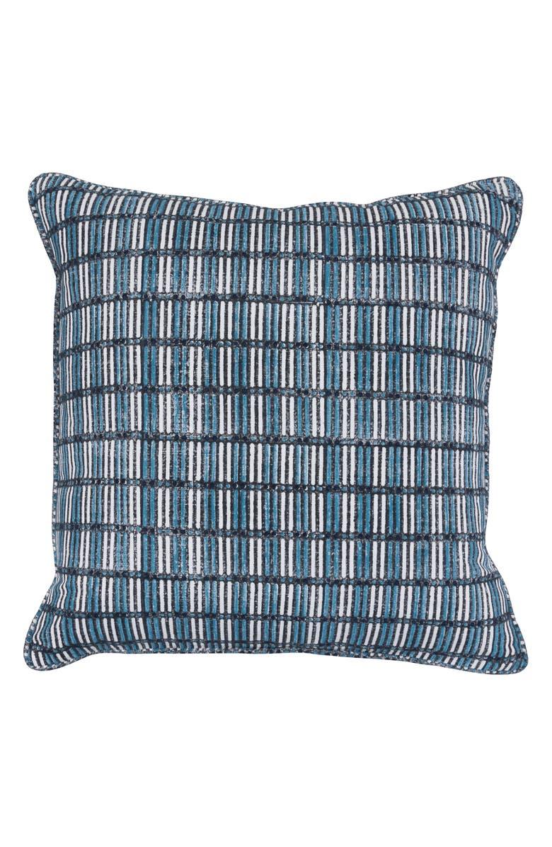 VILLA HOME COLLECTION Aubrey Accent Pillow, Main, color, BLACK/ BLUE