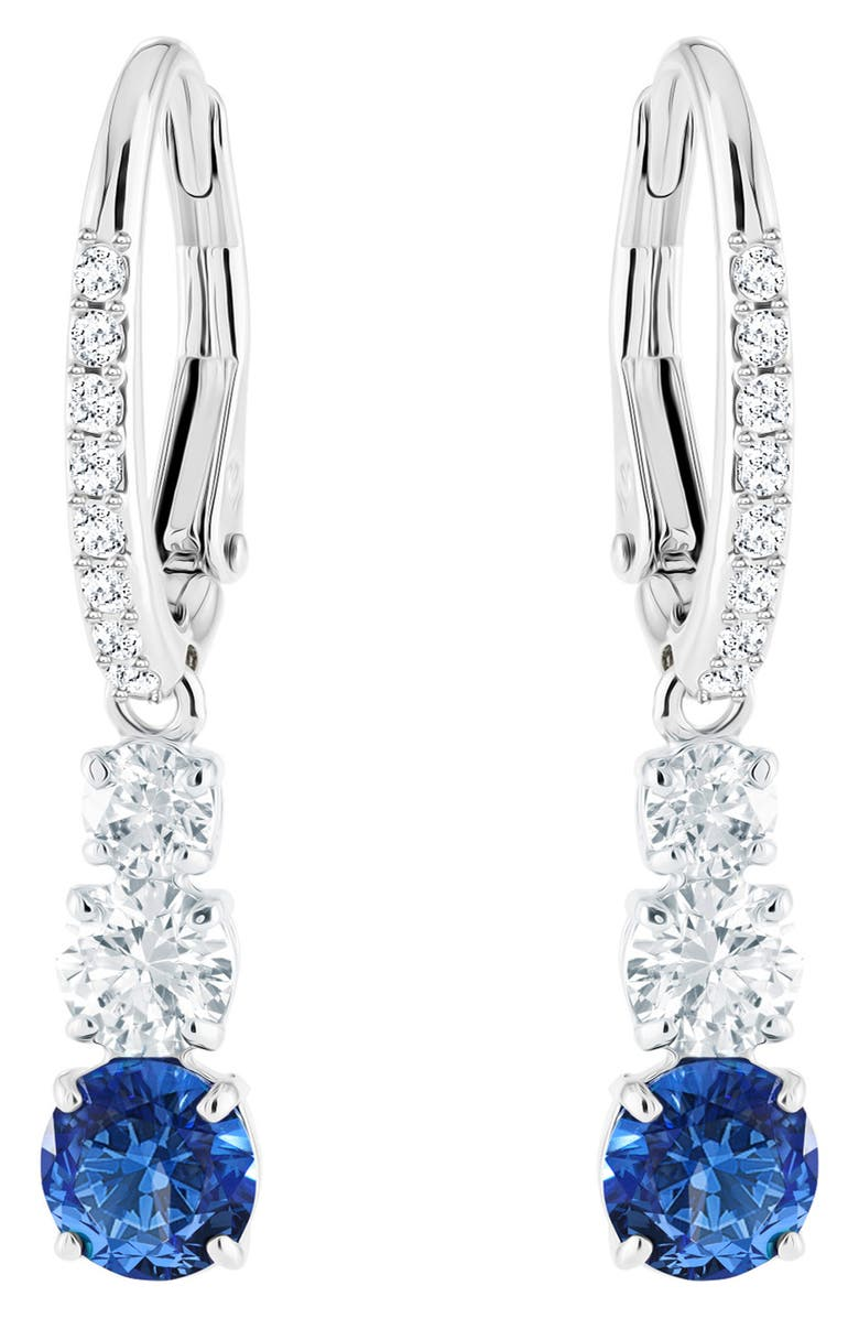 SWAROVSKI Attract Trilogy Drop Earrings, Main, color, 040
