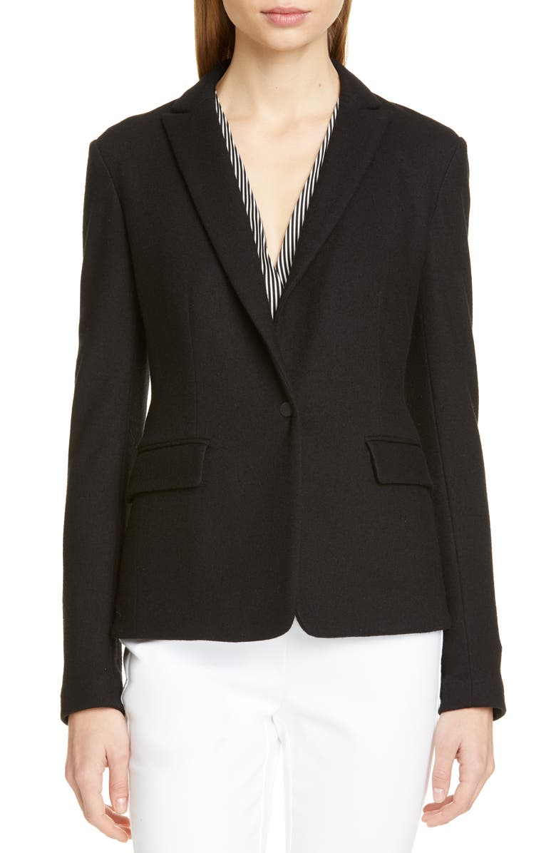 RAG & BONE Lexington Wool Blazer, Main, color, BLACK