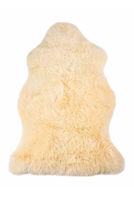 """Image of Natural Milan Genuine Sheepskin Shearling Throw 24"""" x 36"""" - Cream"""