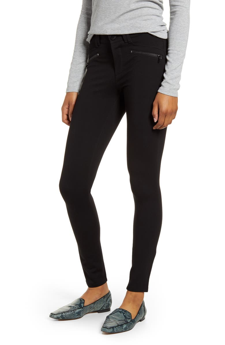 WIT & WISDOM Ab-Solution Skinny Ponte Pants, Main, color, BLACK