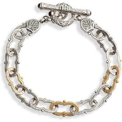 Konstantino Kleos Two-Tone Chain Link Toggle Bracelet
