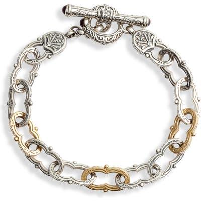 Konstantino Kleos Two-Tone Chain Link Toggle Bracelet