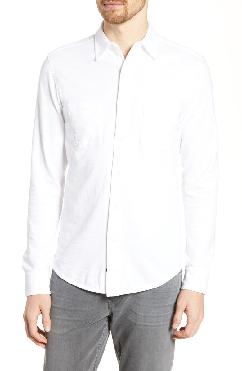 FAHERTY Seasons Regular Fit Cotton Shirt, Main, color, WHITE
