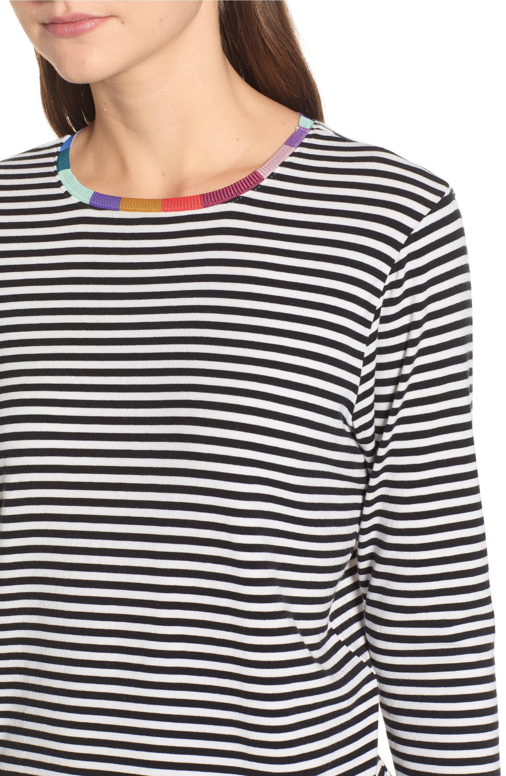 b3de6b266d Splendid x Margherita Colore Rainbow Neckline Stripe Tee | Nordstrom