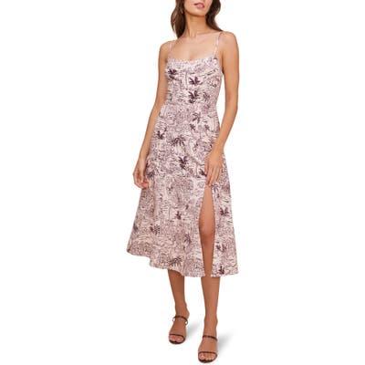 Astr The Label Keilani Sleeveless Midi Dress, Pink