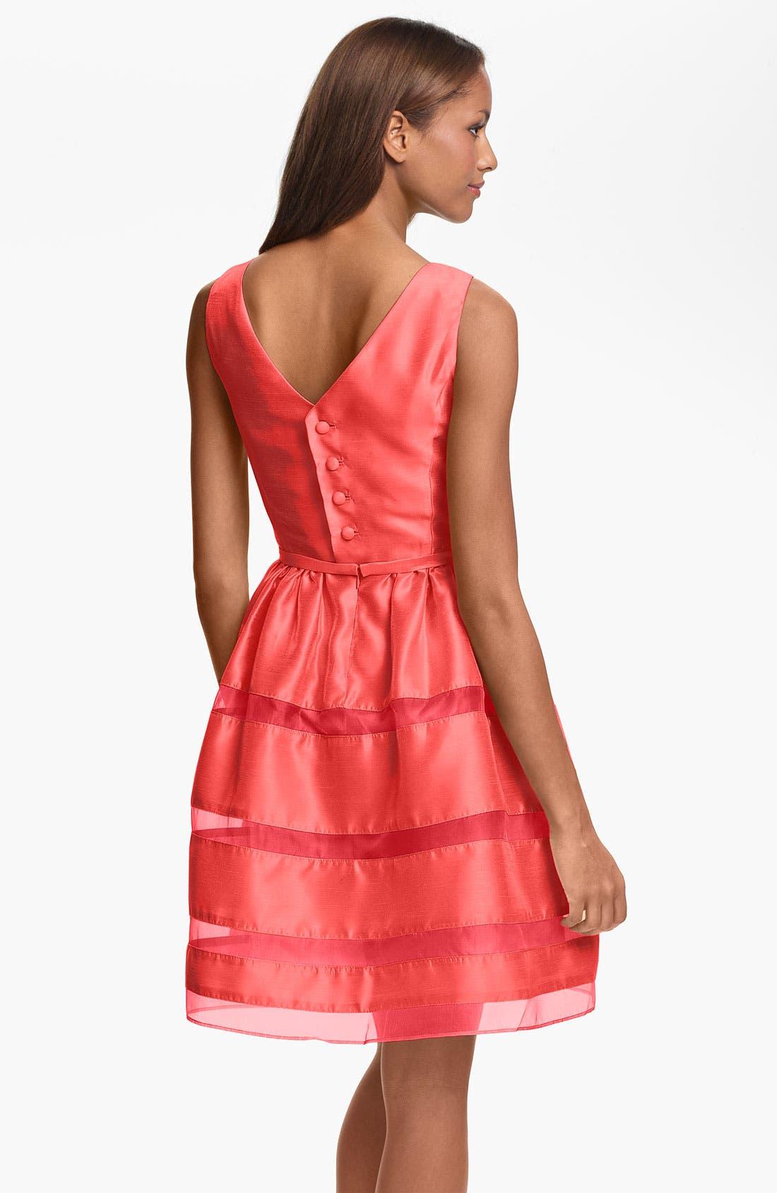 ,                             Tonal Stripe Fit & Flare Dress,                             Alternate thumbnail 17, color,                             950