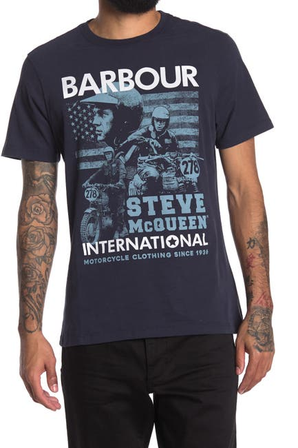 Image of Barbour B. Intl Collage Graphic Crew Neck T-Shirt